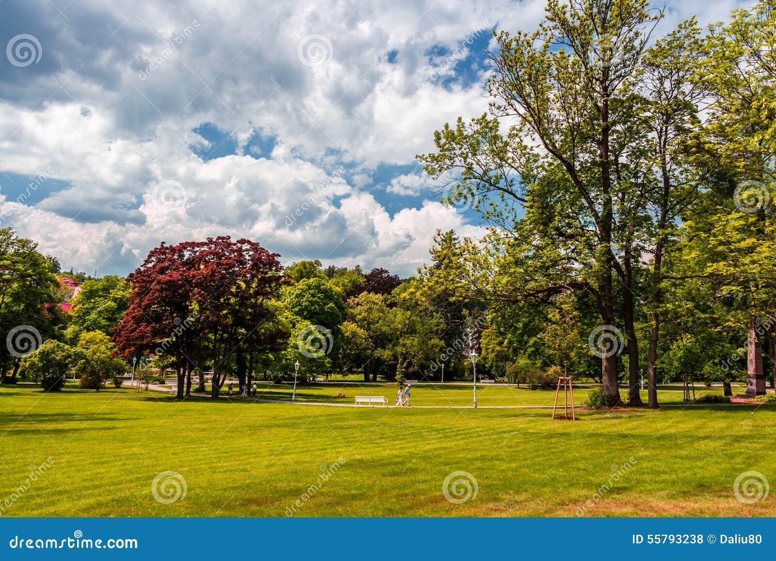 Vista del parco di Marianske Lazne