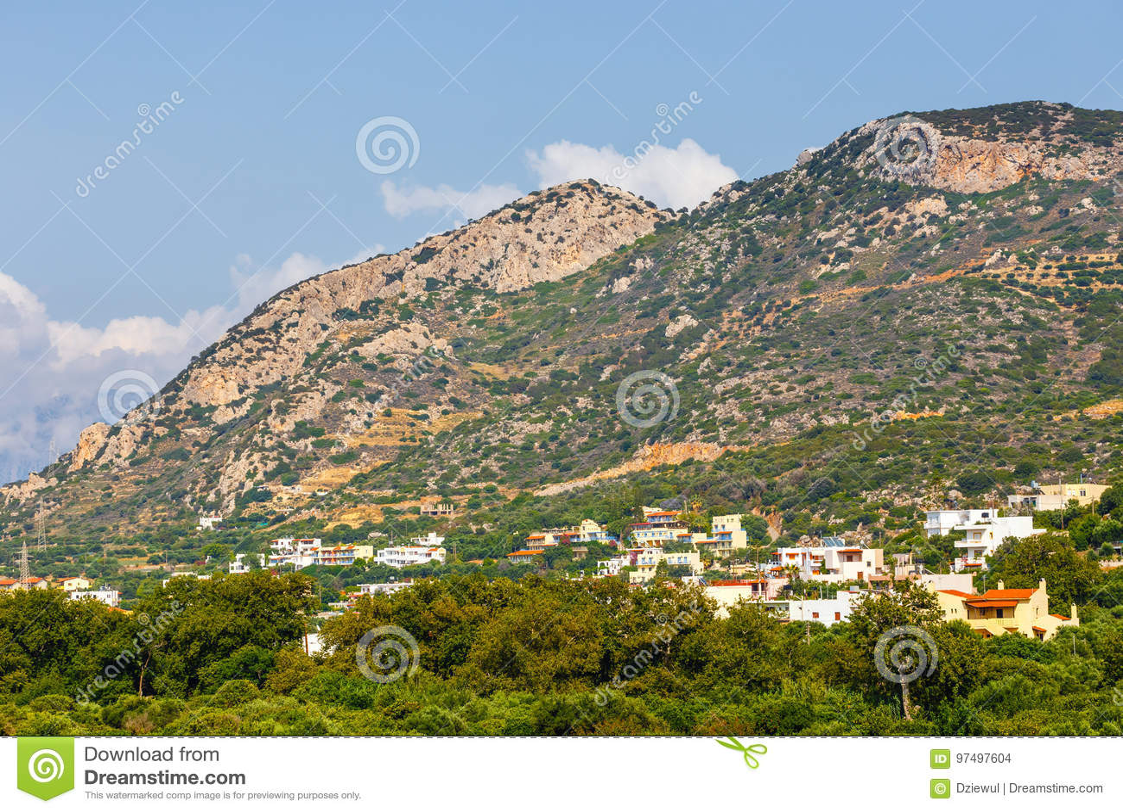Vista del plateau di Lasithi su Creta