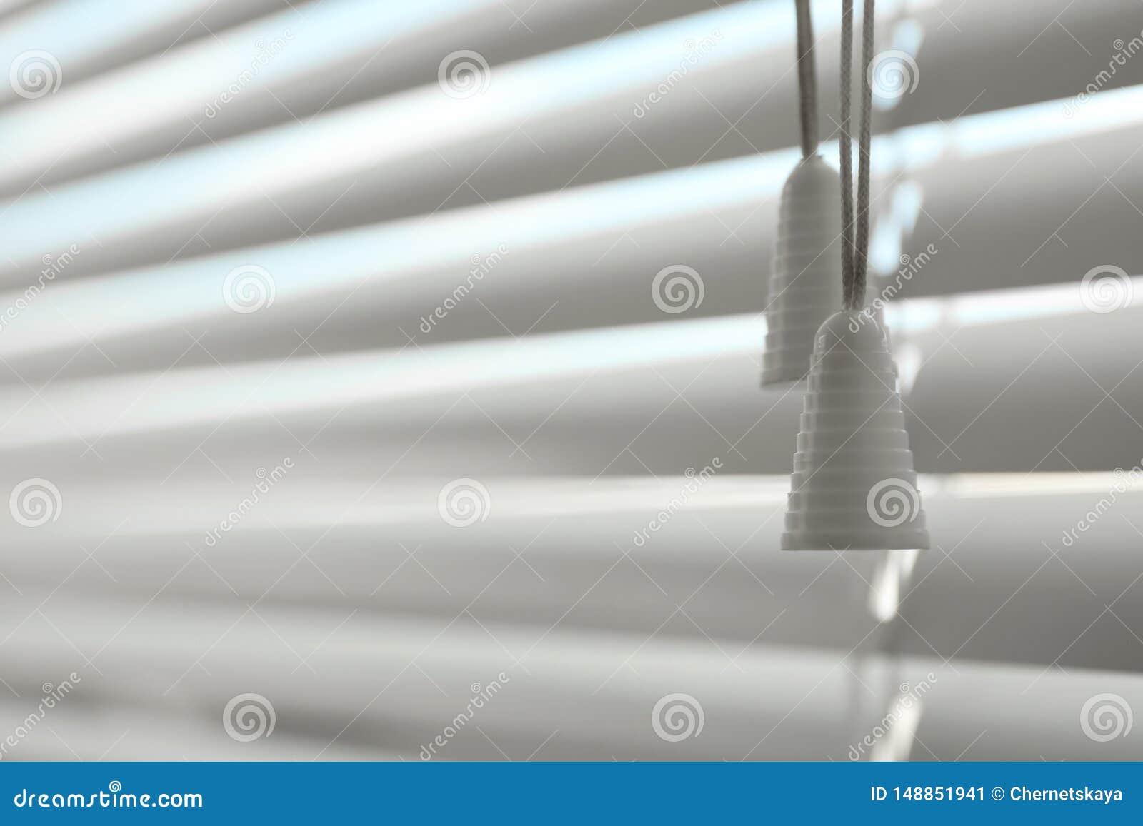 Vista del primo piano dei ciechi di finestra orizzontali