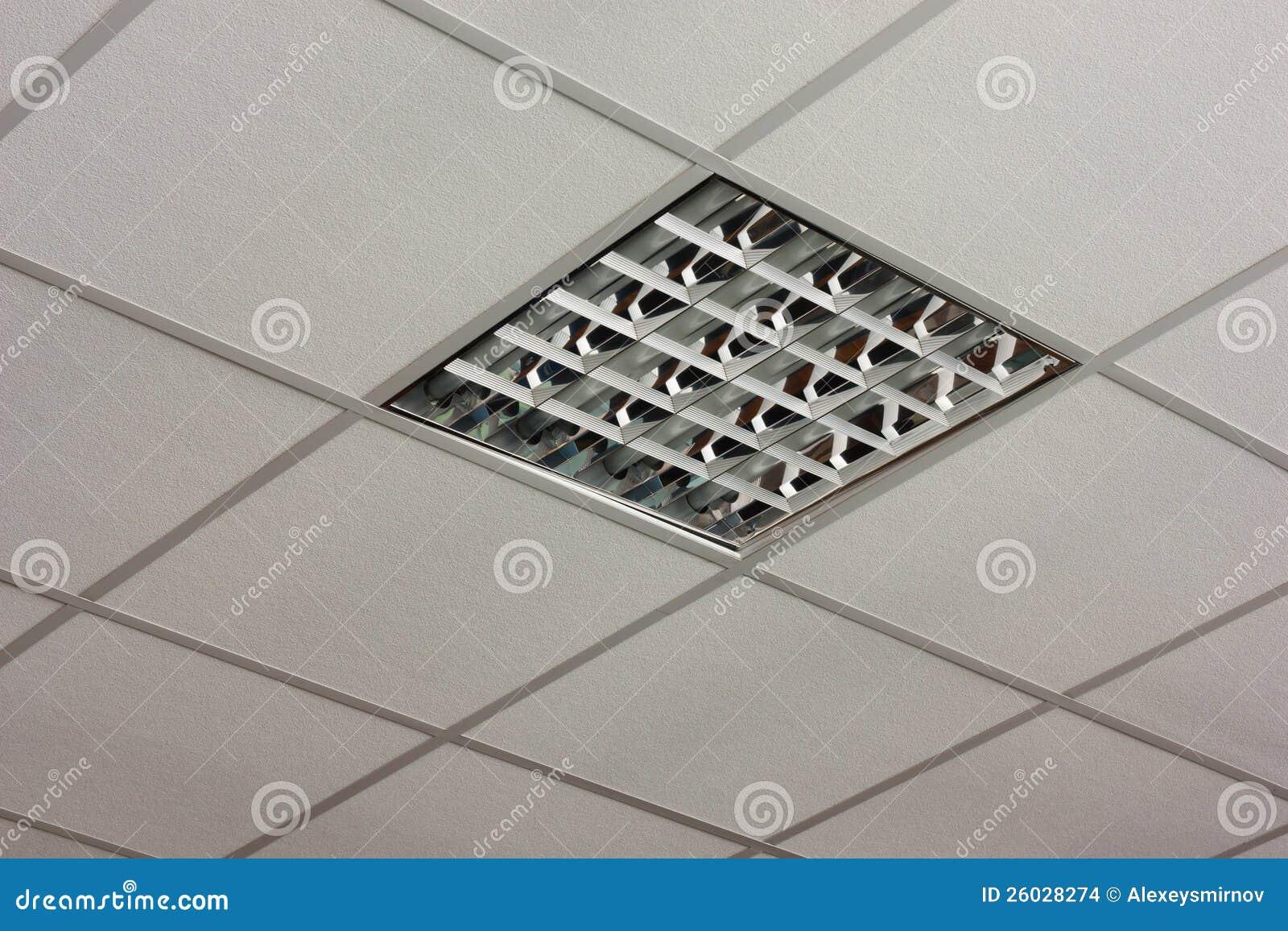 Soffitto dellufficio con le lampade fotografia stock immagine di