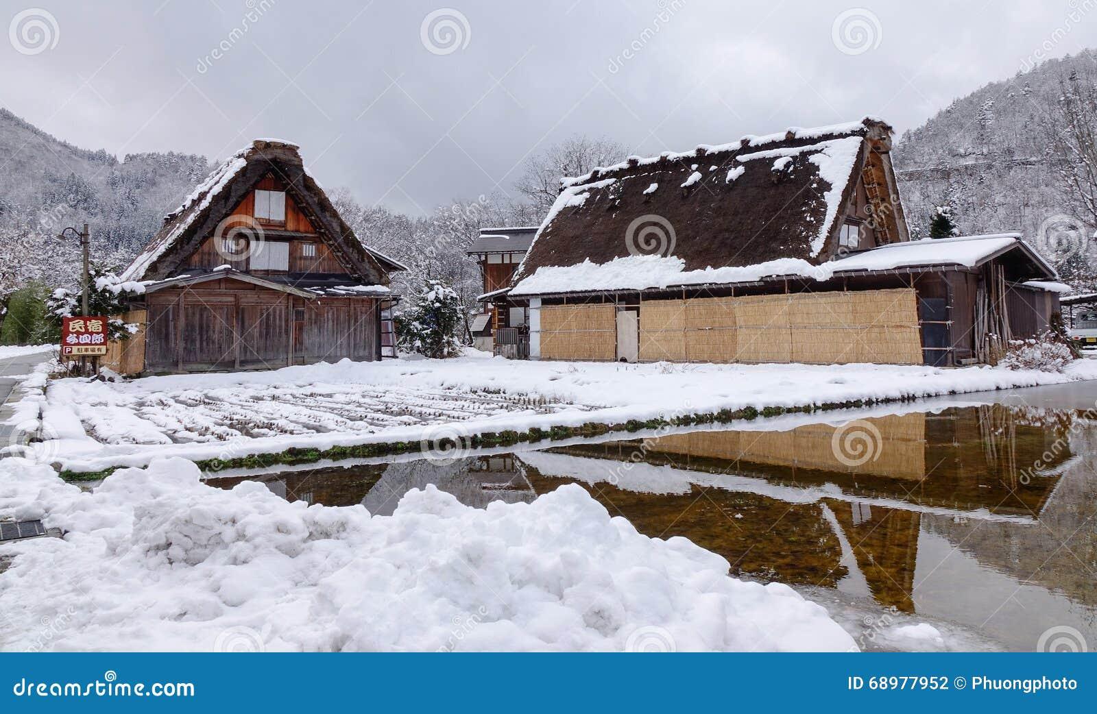 Vista del pueblo viejo en Takayama, Japón