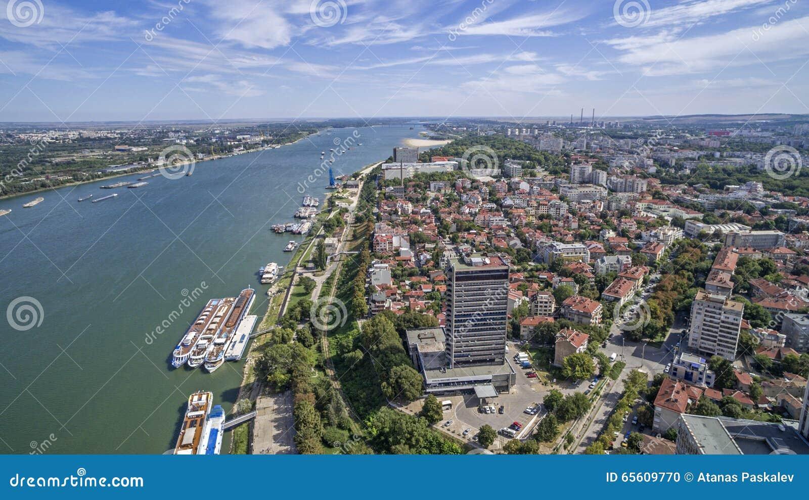 Vista del río Danubio desde arriba