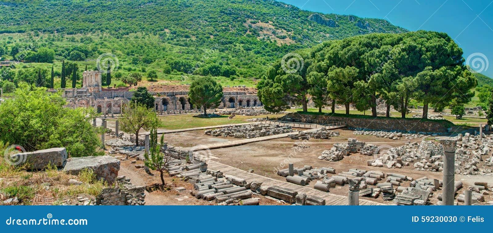 Download Vista Del Sitio Arqueológico De Las Excavaciones Foto de archivo - Imagen de corinthian, señal: 59230030