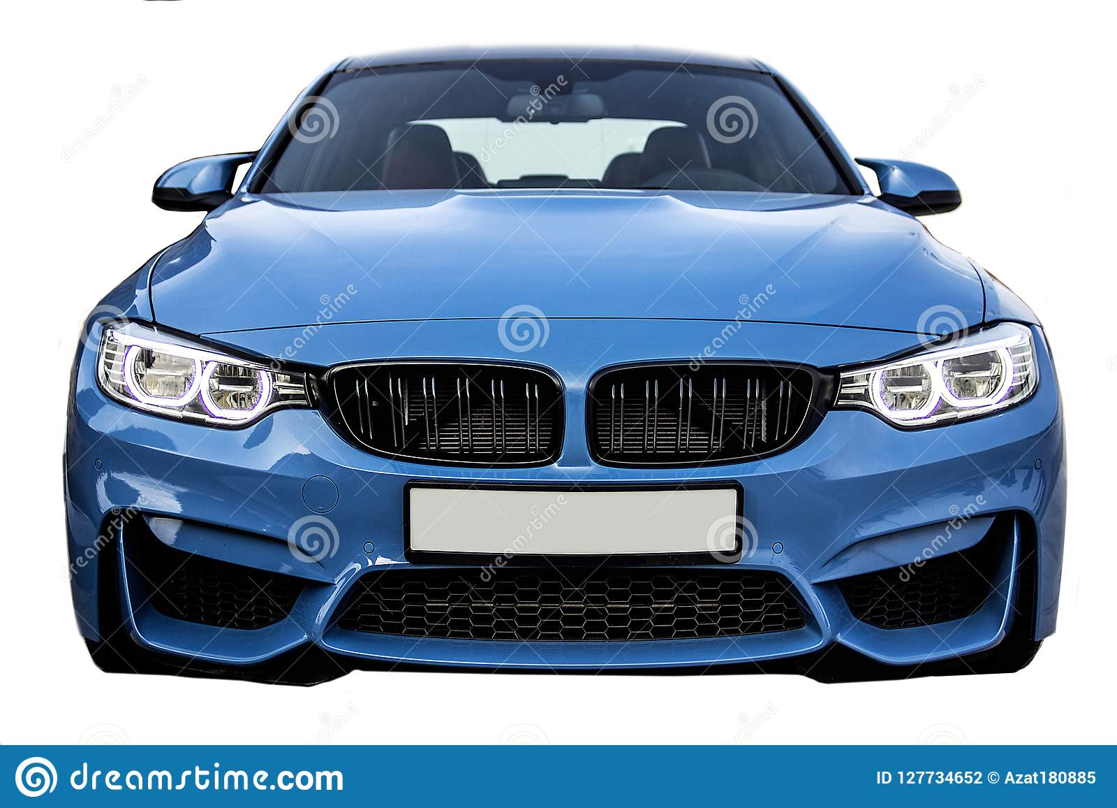 Vista delantera de BMW M3, coche del sedán del deporte del negocio