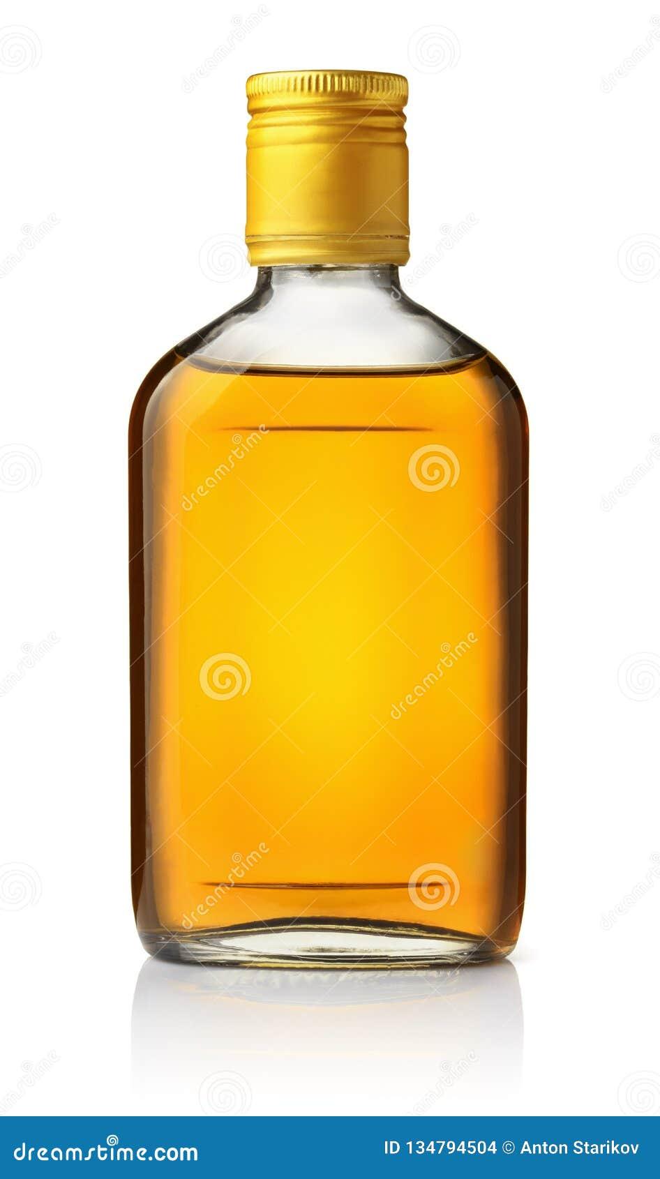 Vista delantera del frasco del brandy