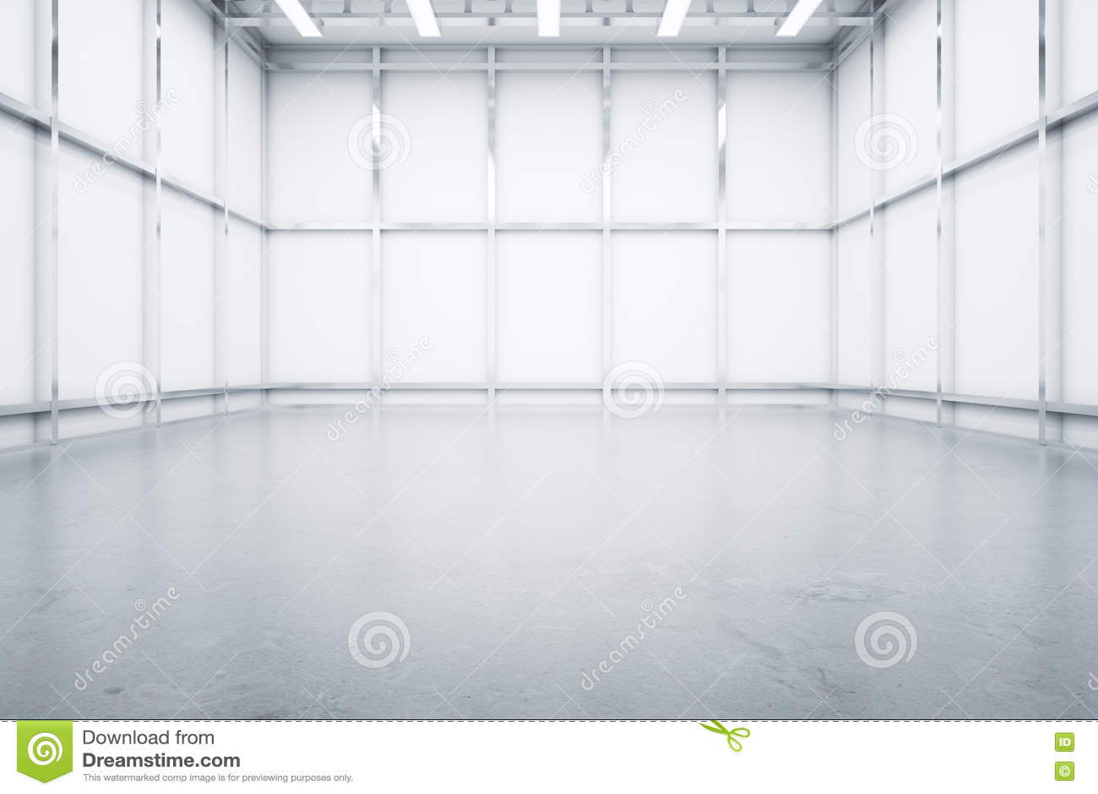 Vista Delantera Interior De Warehouse Stock de ilustración