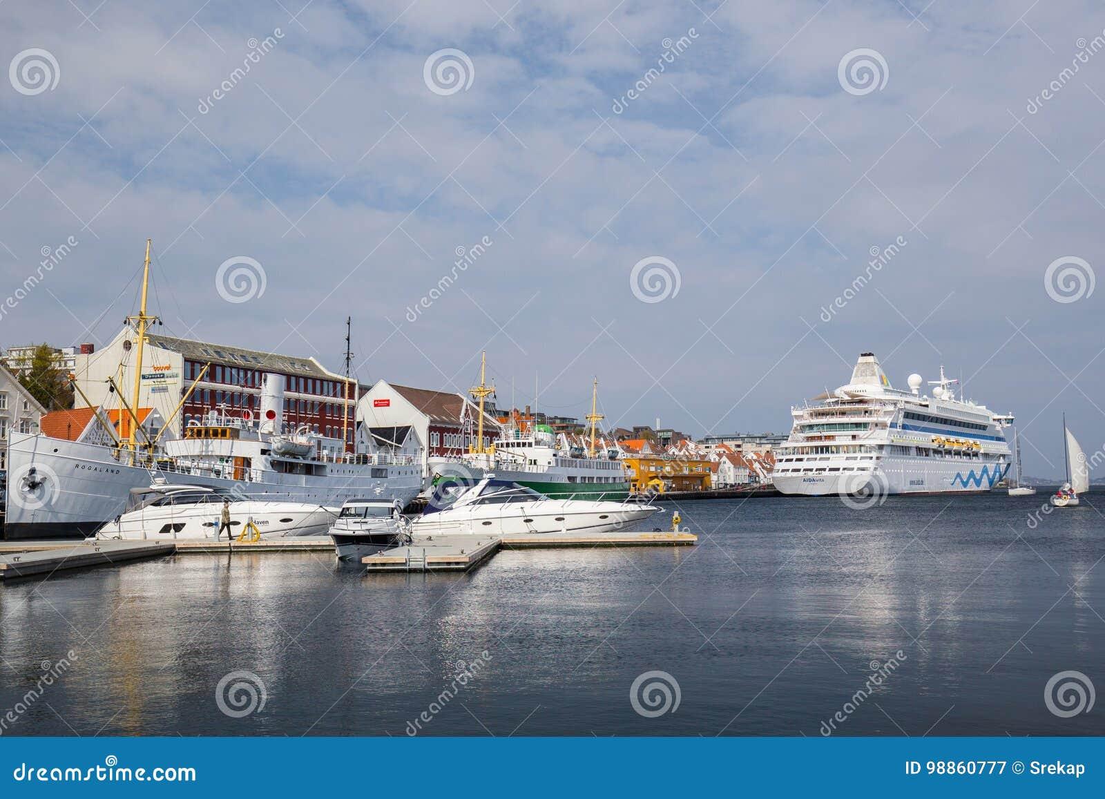 Vista dell area del porto di Stavanger, Norvegia