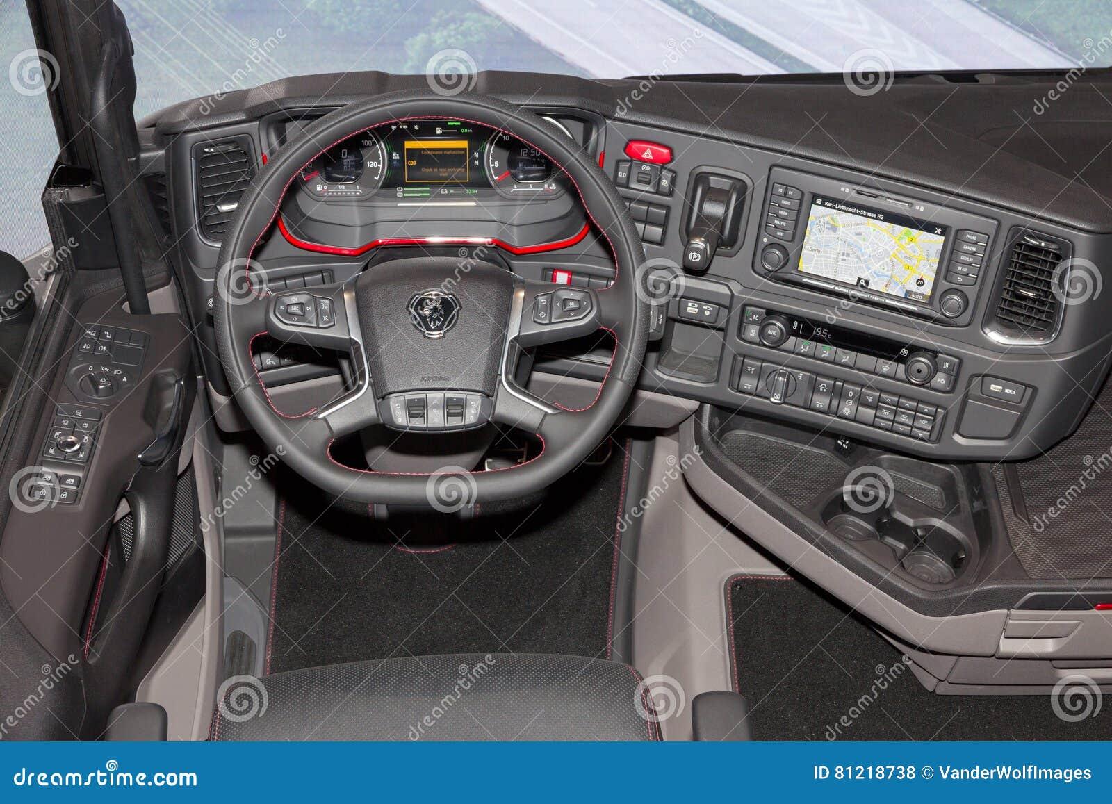 vista della cabina del camion fotografia stock editoriale