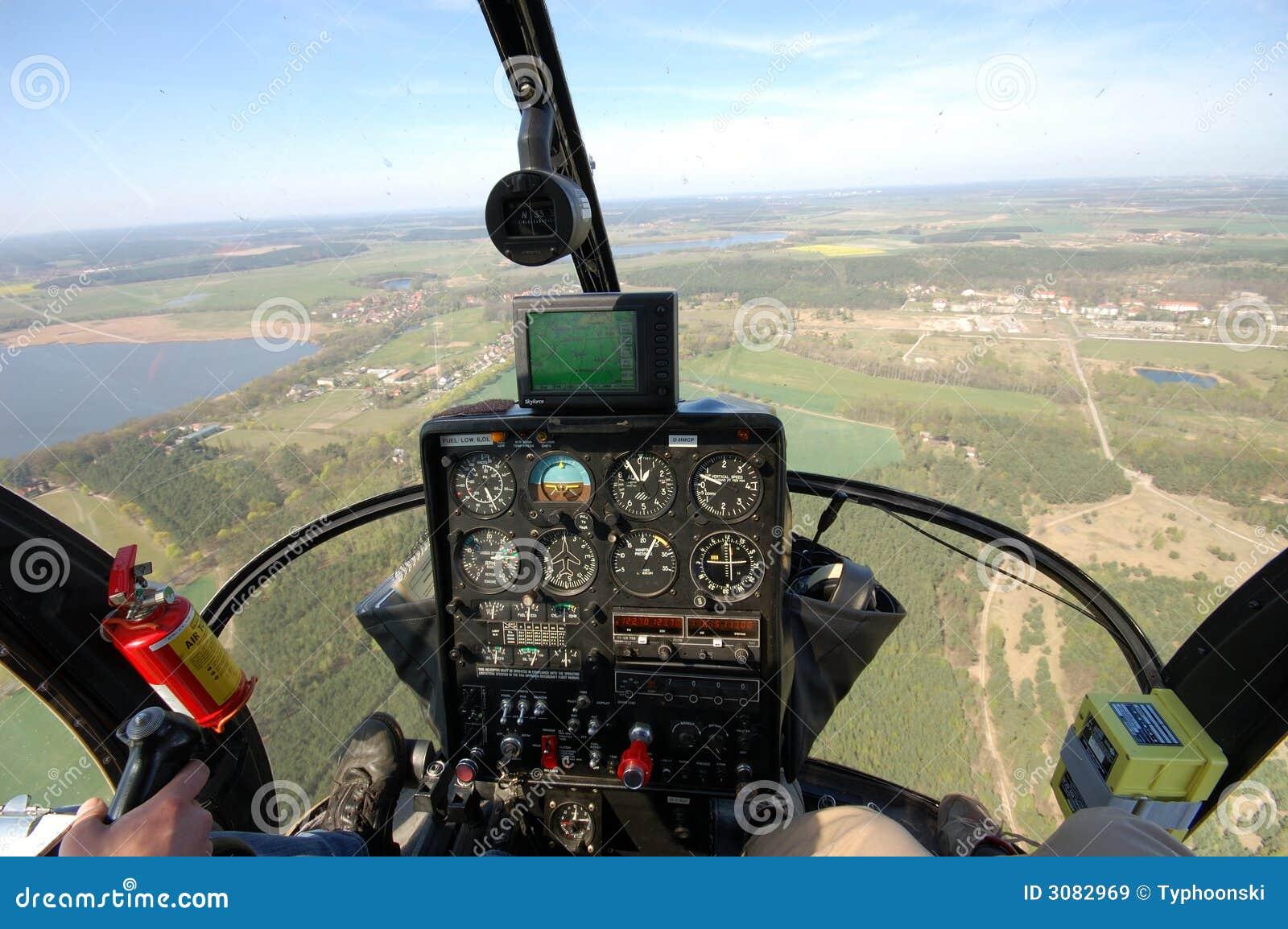 Vista della cabina di guida dell 39 elicottero immagine stock for Planimetrie della cabina di log