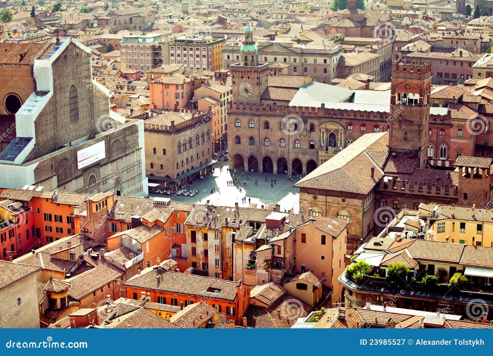 Vista della città di Bologna, Italia
