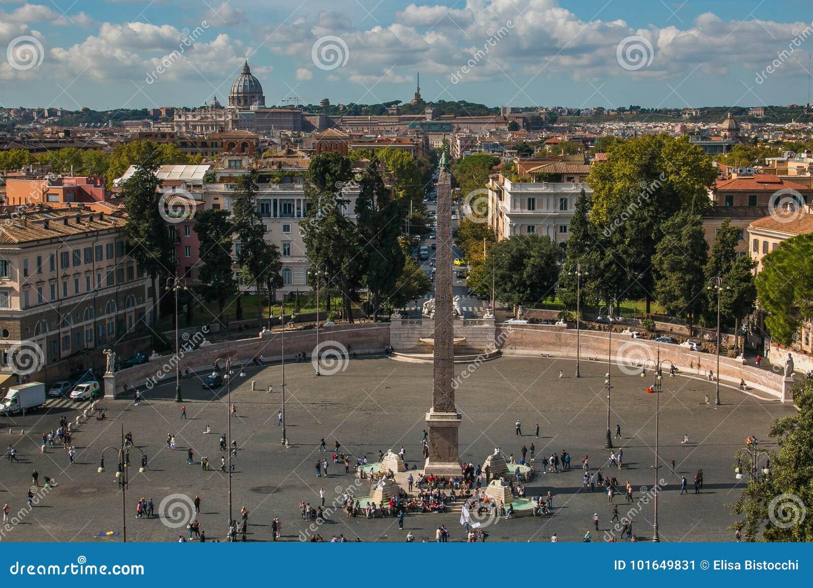 Vista Della Città Di Roma Dalla Collina Del Terrazzo Di