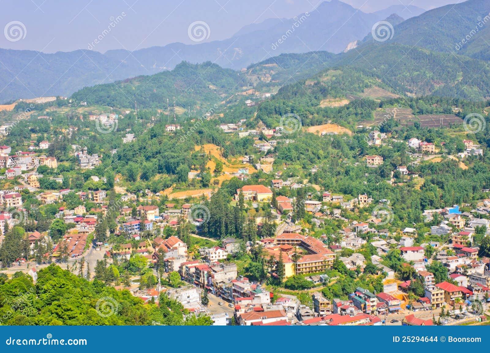 Vista della città di Sapa