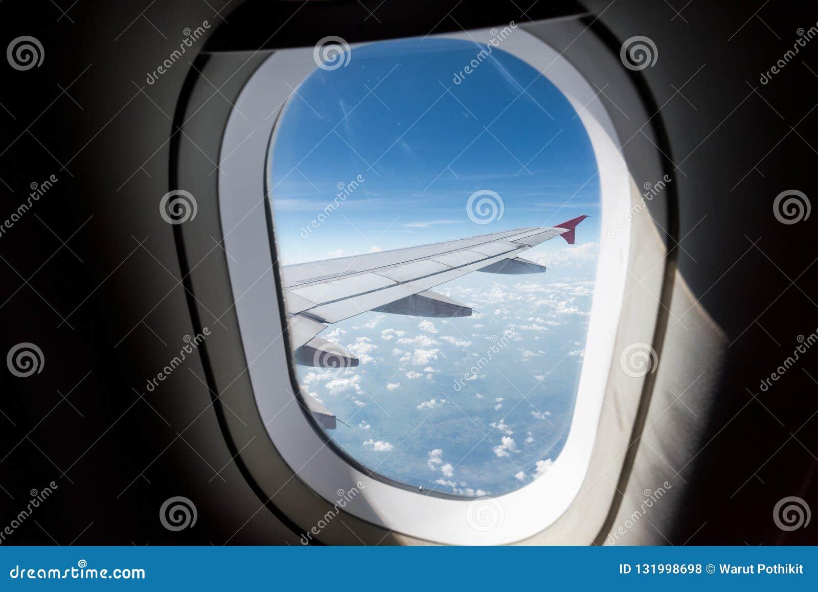 Vista della finestra dell aeroplano