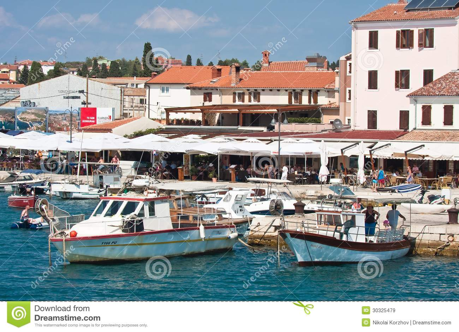 Località Di Soggiorno Fazana, Croazia Immagine Stock Editoriale ...