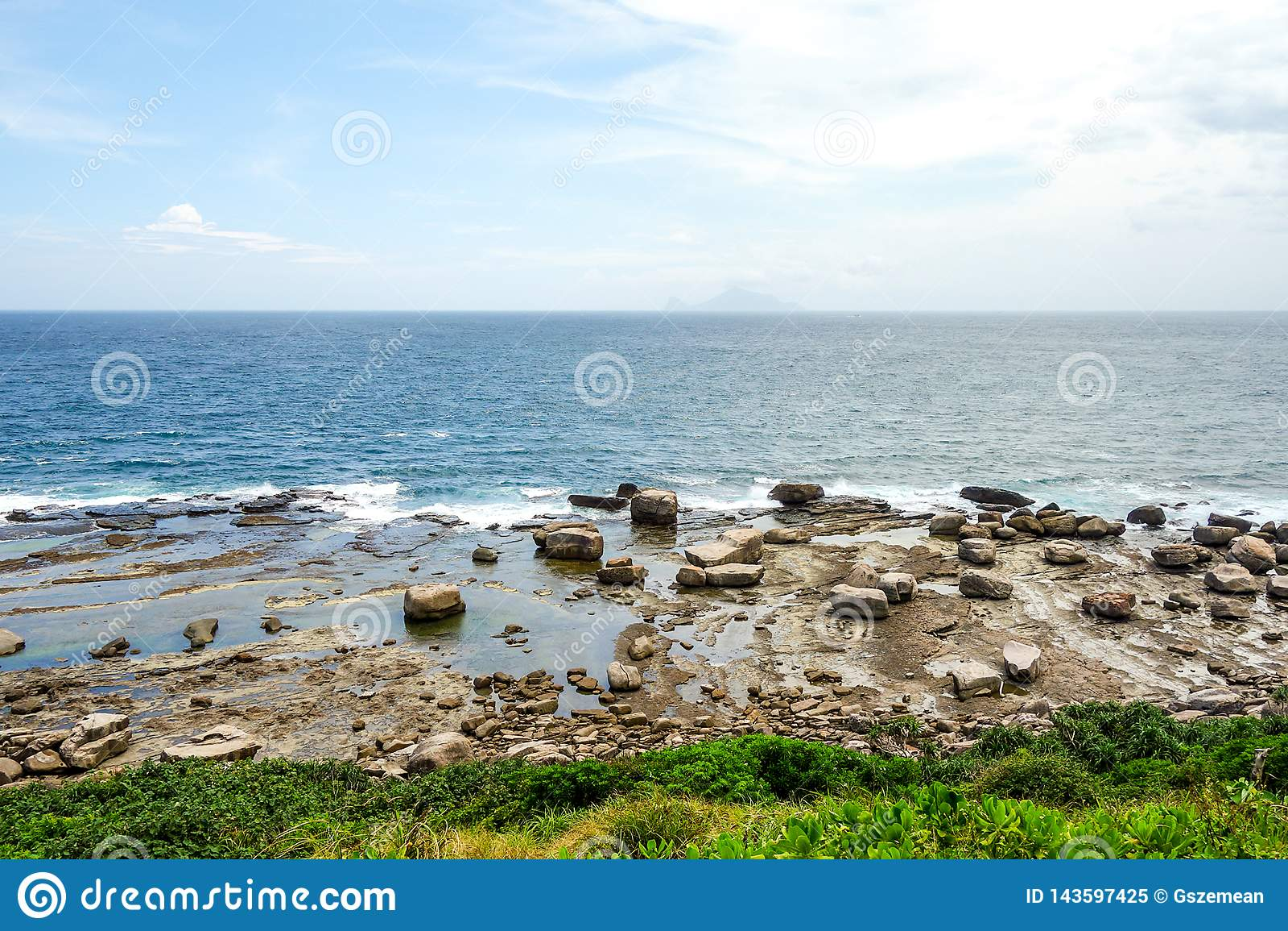 Vista della spiaggia della natura di Taiwan