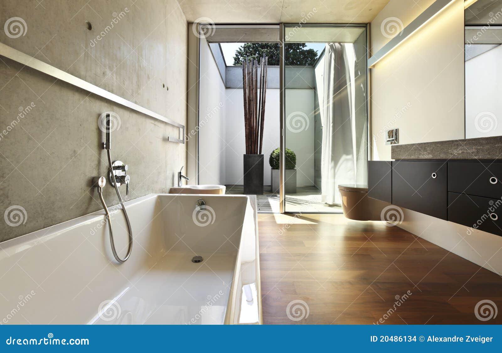 Vista della stanza da bagno