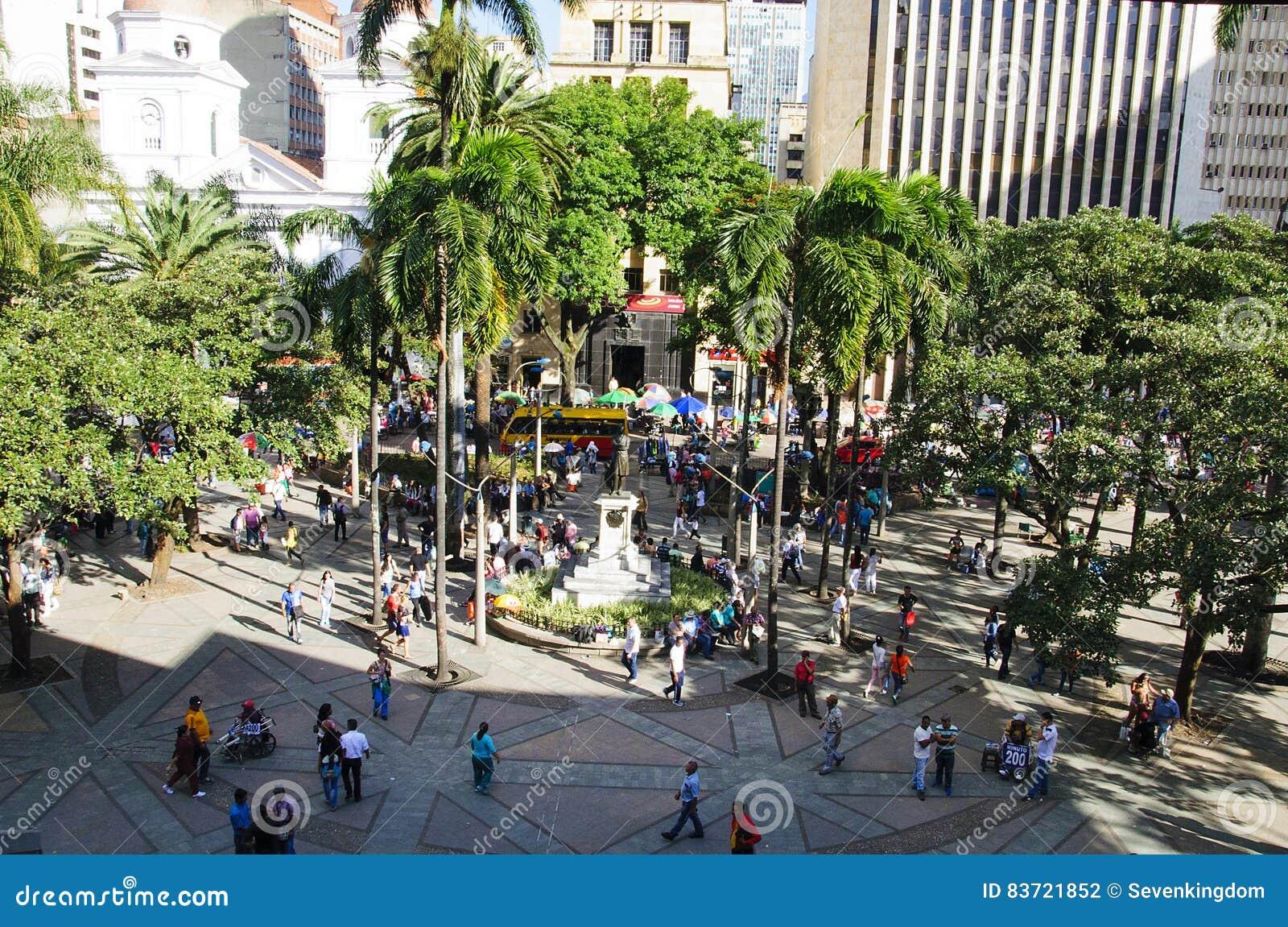 Vista dello squarein Medellin, Colombia di Berrio