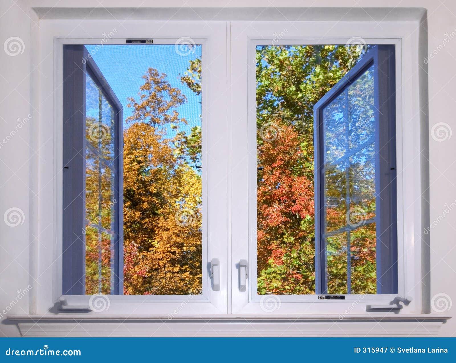 Vista di autunno dalla finestra fotografia stock libera da - La finestra biz opinioni ...