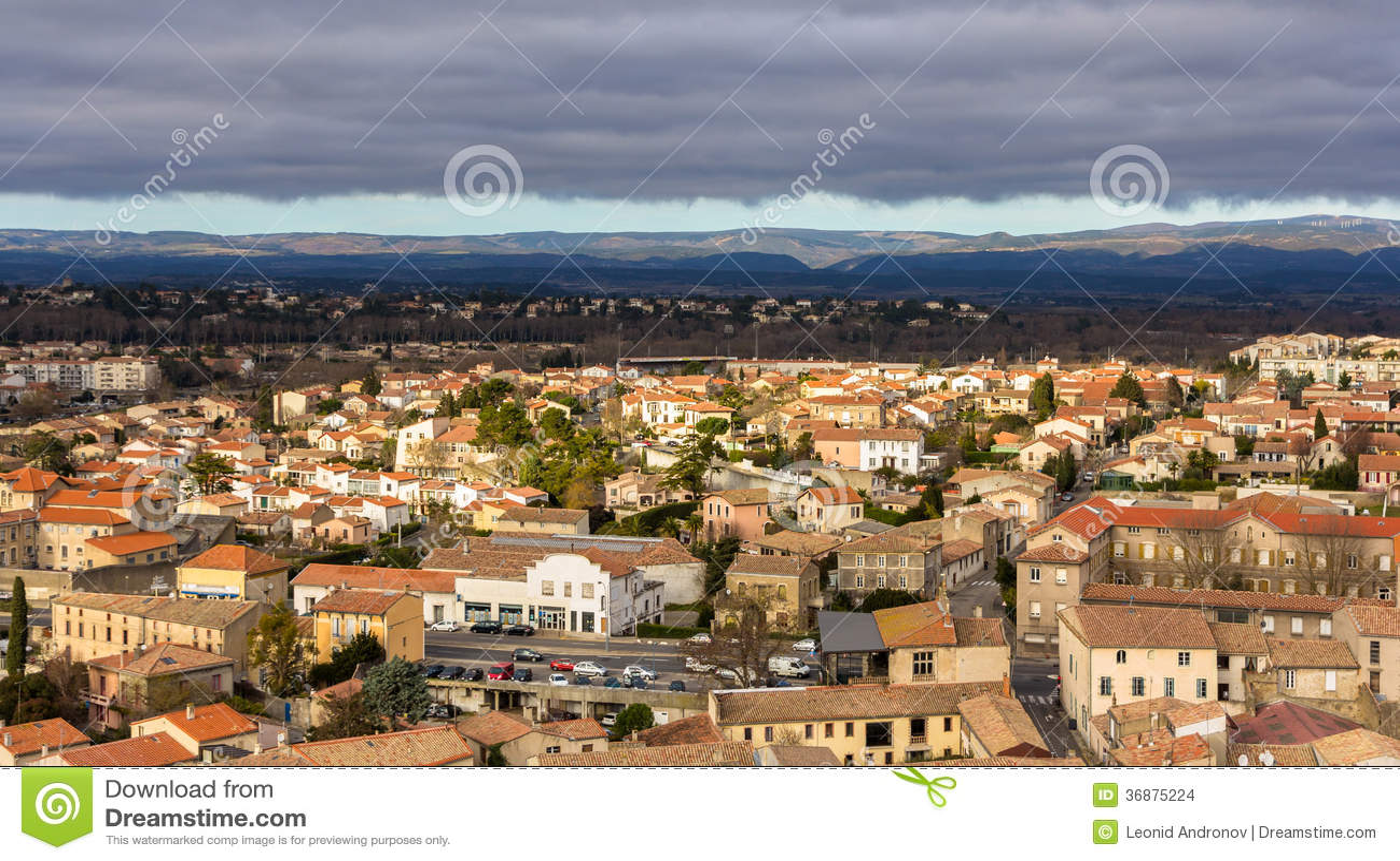 Download Vista Di Carcassonne Dalla Fortezza - Languedoc, Francia Fotografia Stock - Immagine di francese, fortificato: 36875224