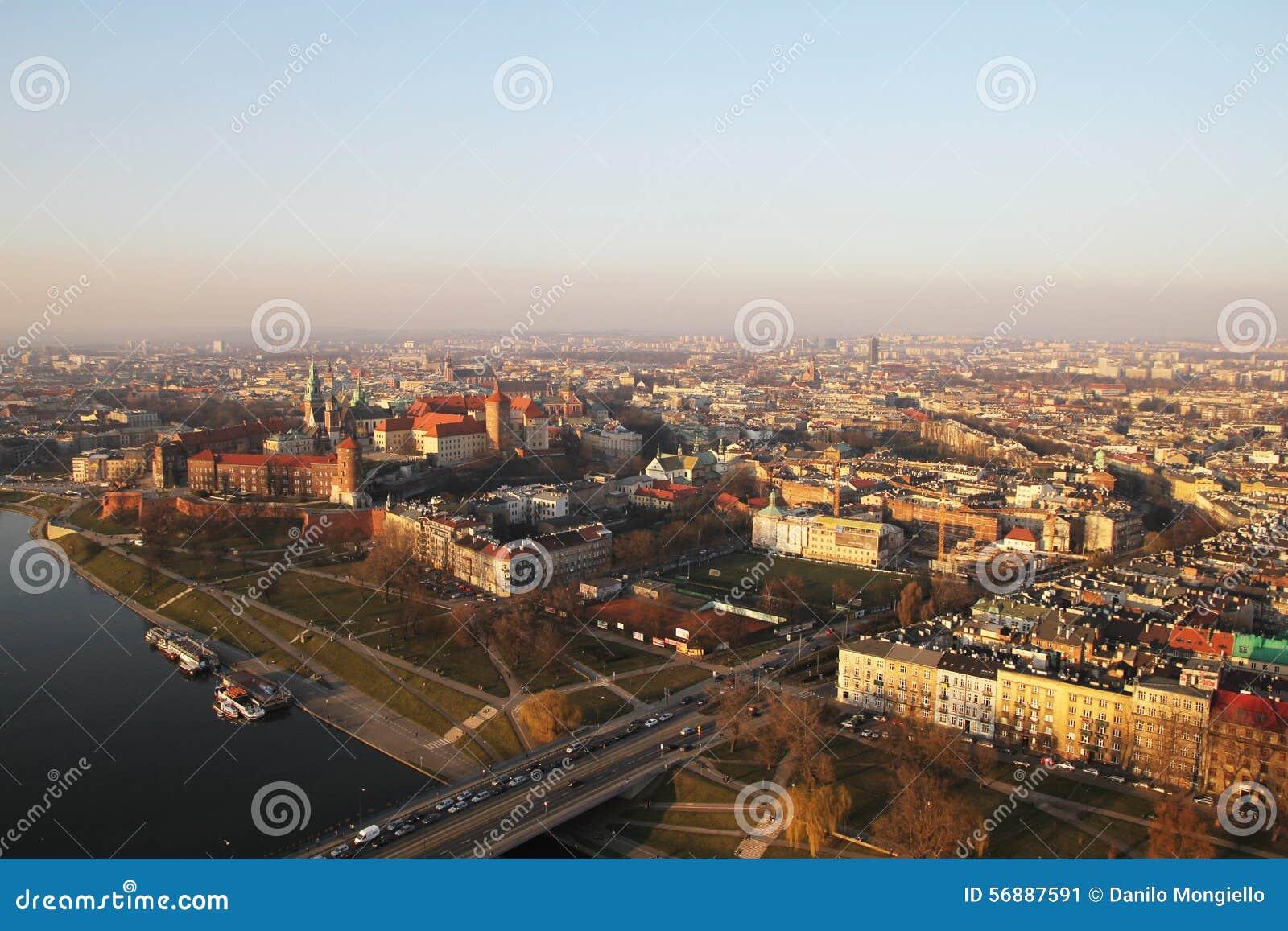 Vista di Cracovia dell aria