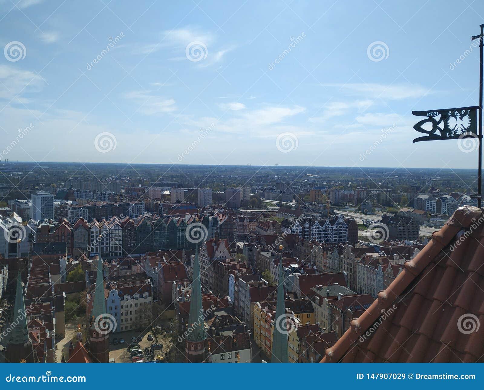 Vista di Danzica dalla torre
