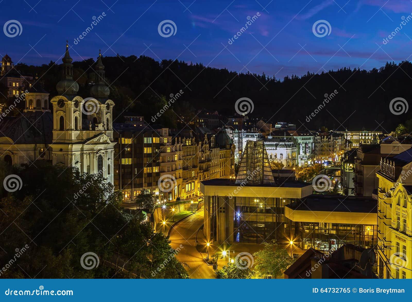Vista di Karlovy Vary, repubblica Ceca