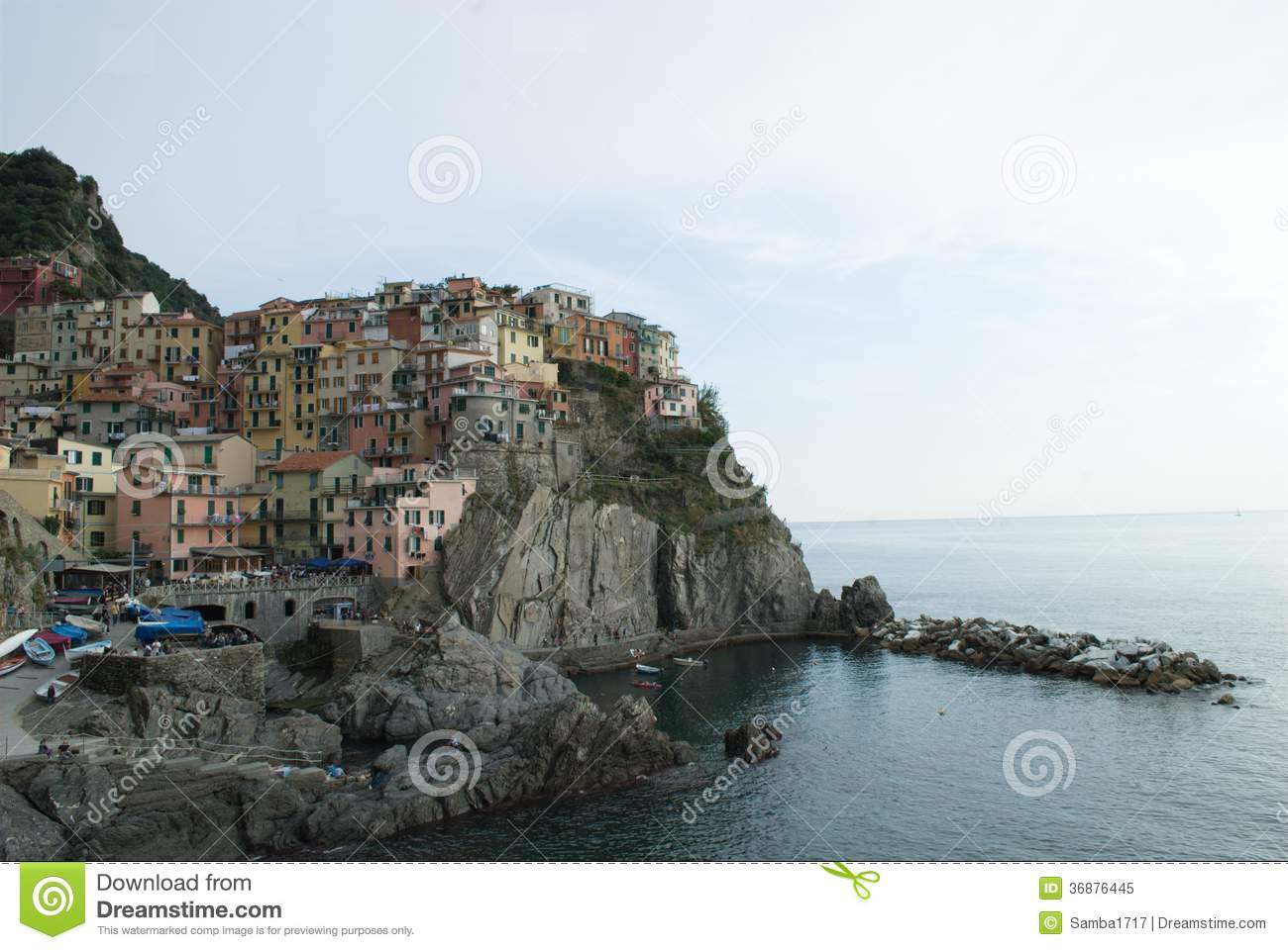 Download Vista di Manarola immagine stock. Immagine di mare, vista - 36876445