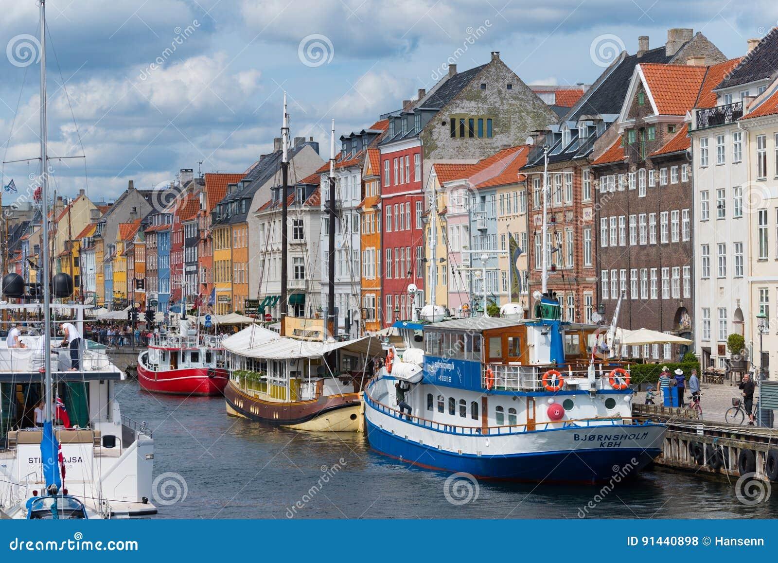 Vista di Nyhavn a Copenhaghen, Danimarca