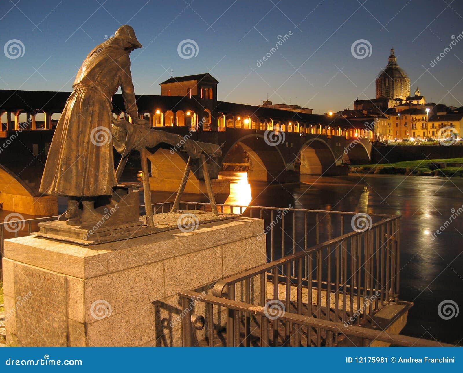 Vista di Pavia, Italia