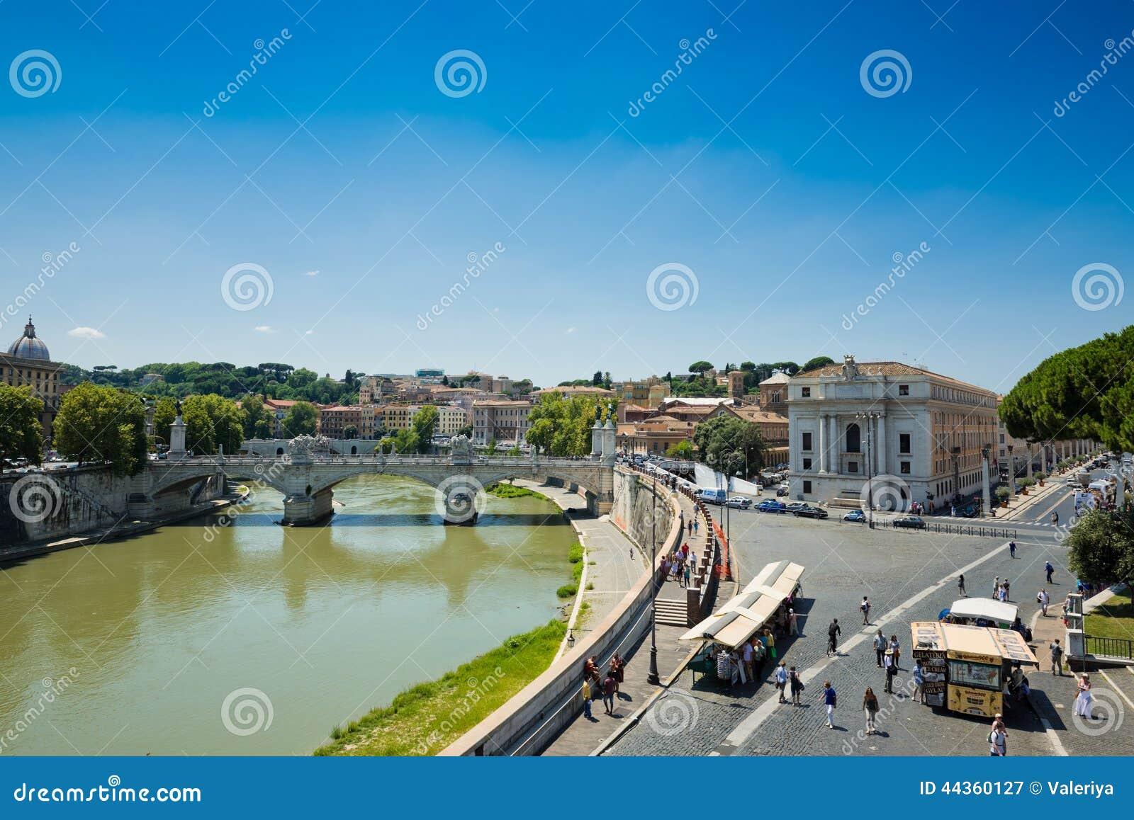 Vista di Roma da Castel Sant Angelo, Italia