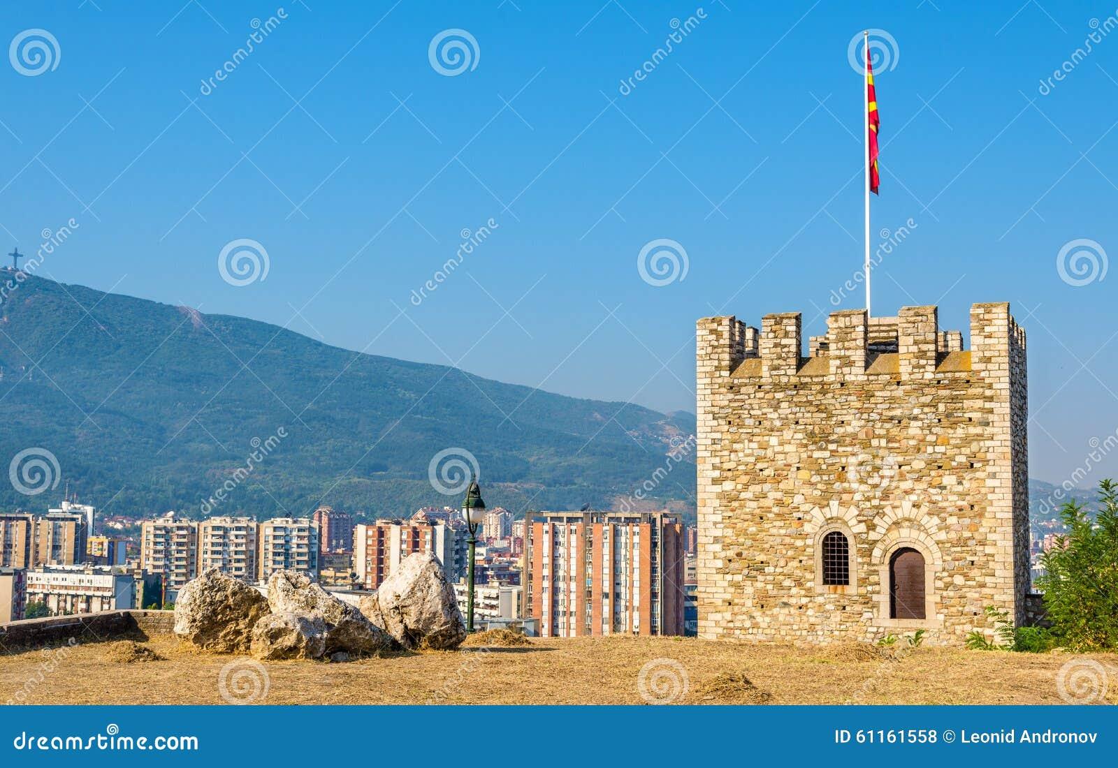 Vista di Skopje dalla fortezza