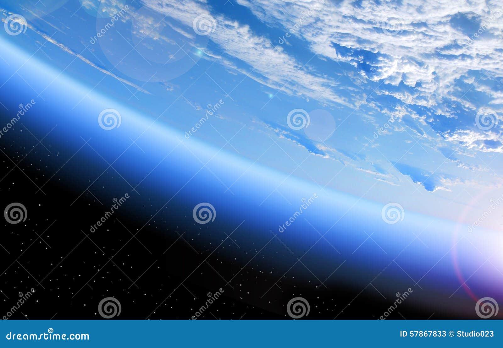 Vista di terra da spazio