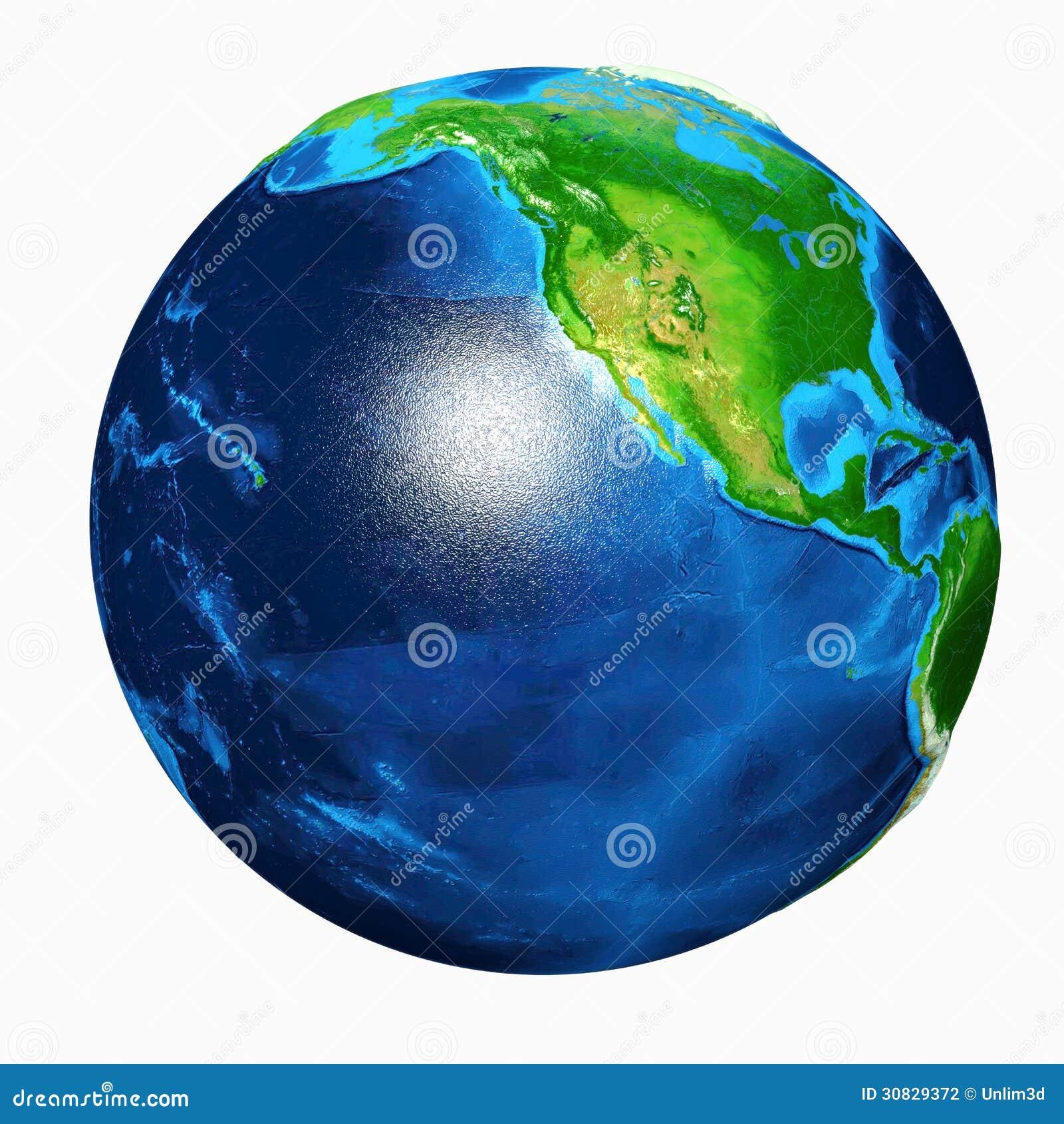 Vista di U.S.A. della terra