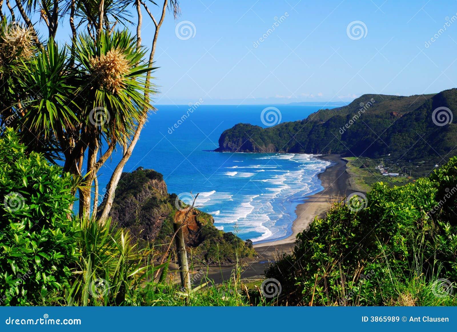 Vista di una spiaggia della costa ovest