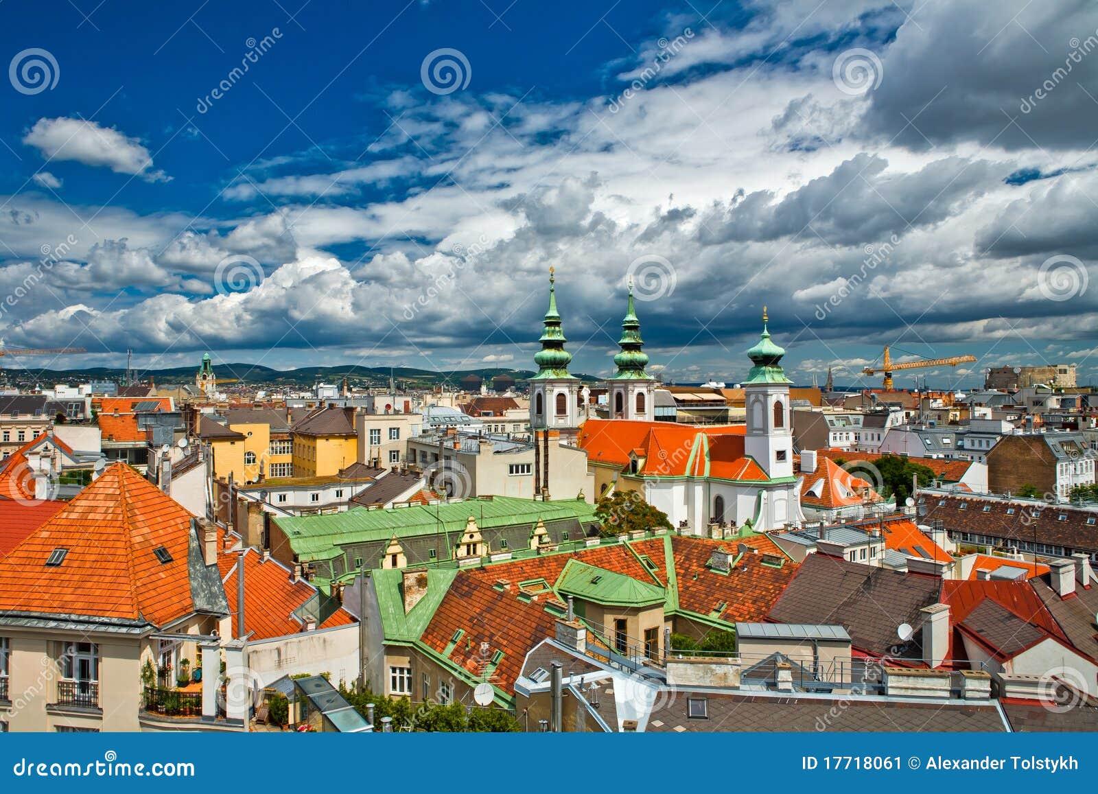 Vista di Vienna dal tetto