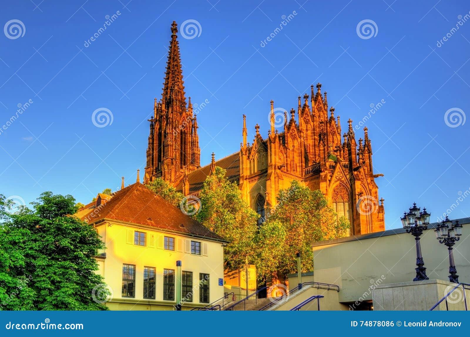 Vista do Elisabethenkirche em Basileia