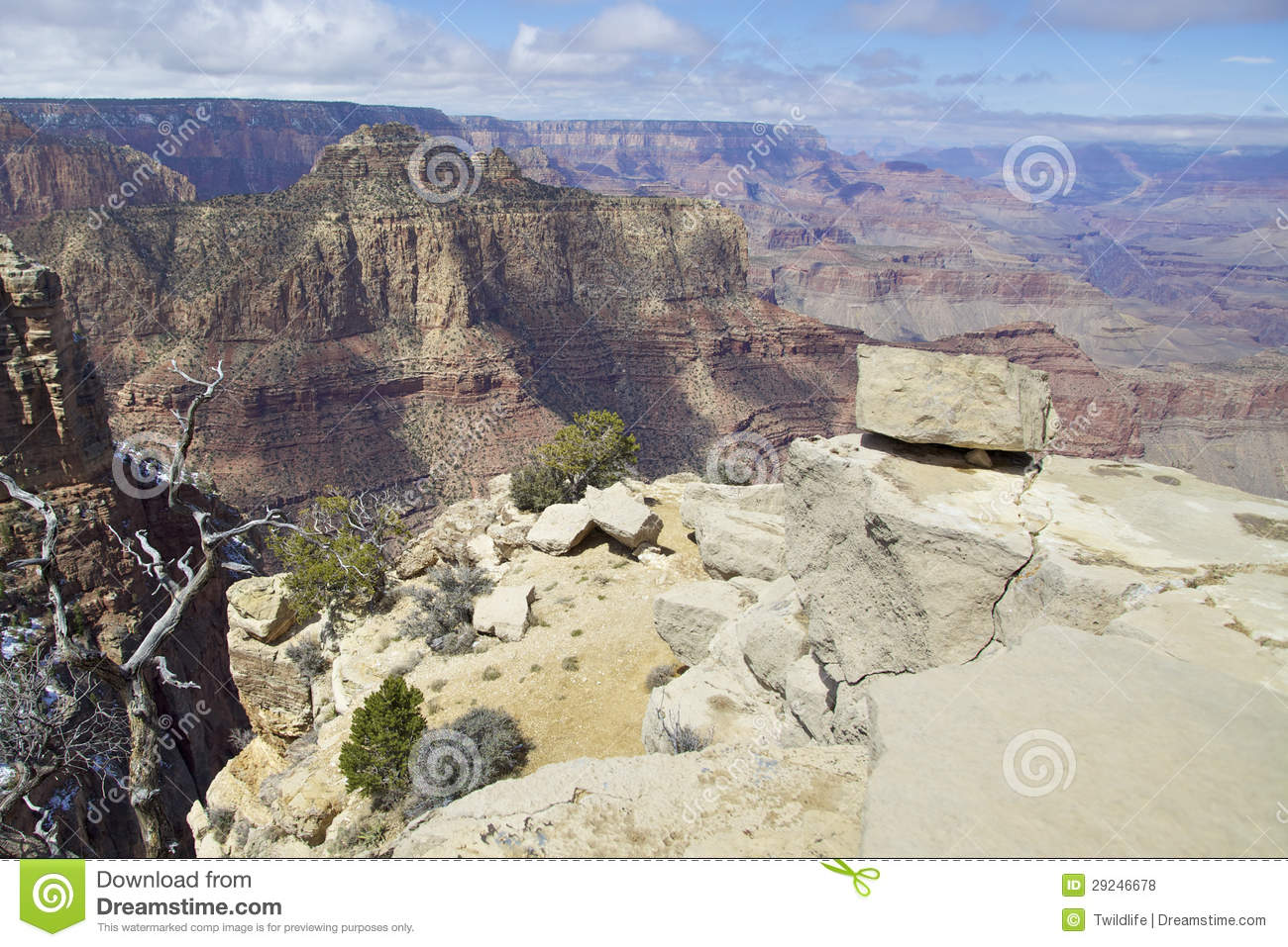 Download Vista do Grand Canyon foto de stock. Imagem de garganta - 29246678