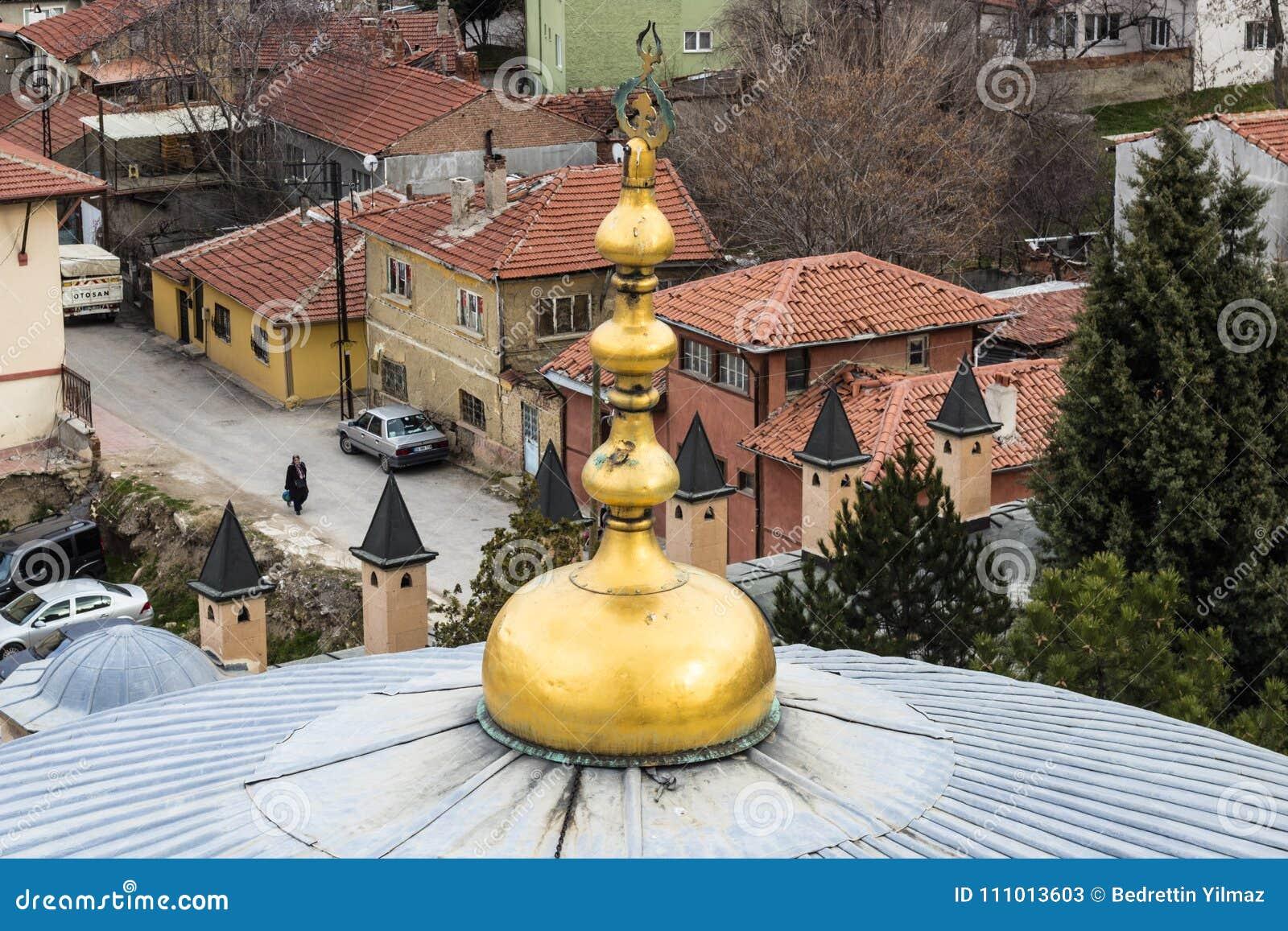 Vista do minarete da mesquita