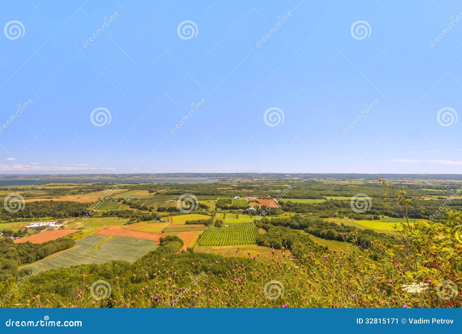 Vista do olhar do parque de Blomidon fora