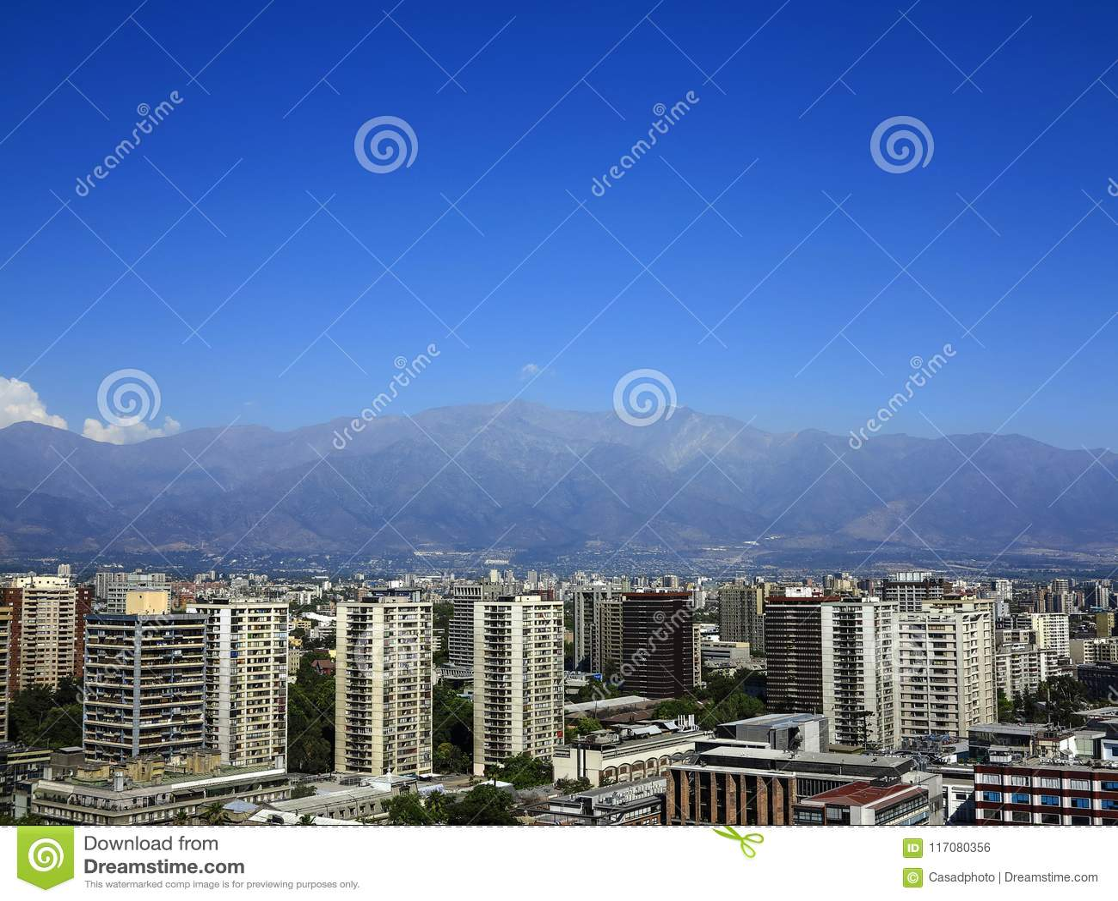 Vista do Santiago, o Chile
