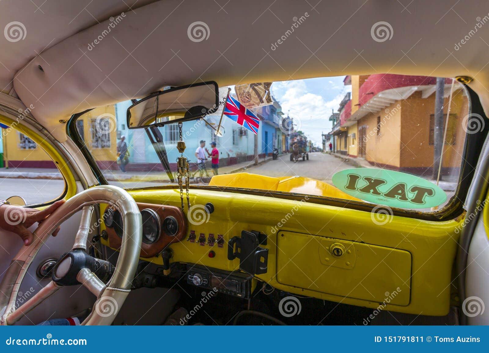 Vista do táxi em Trinidad