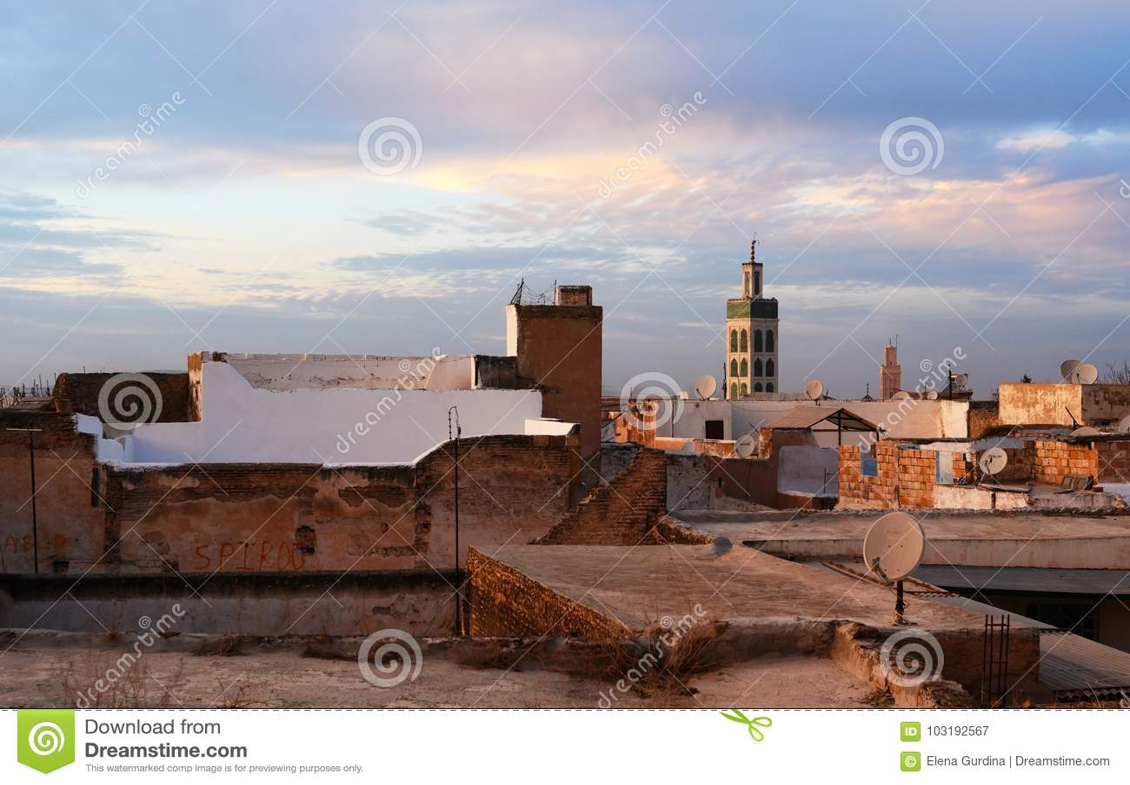 Vista do telhado de Bou Inania Madrasa