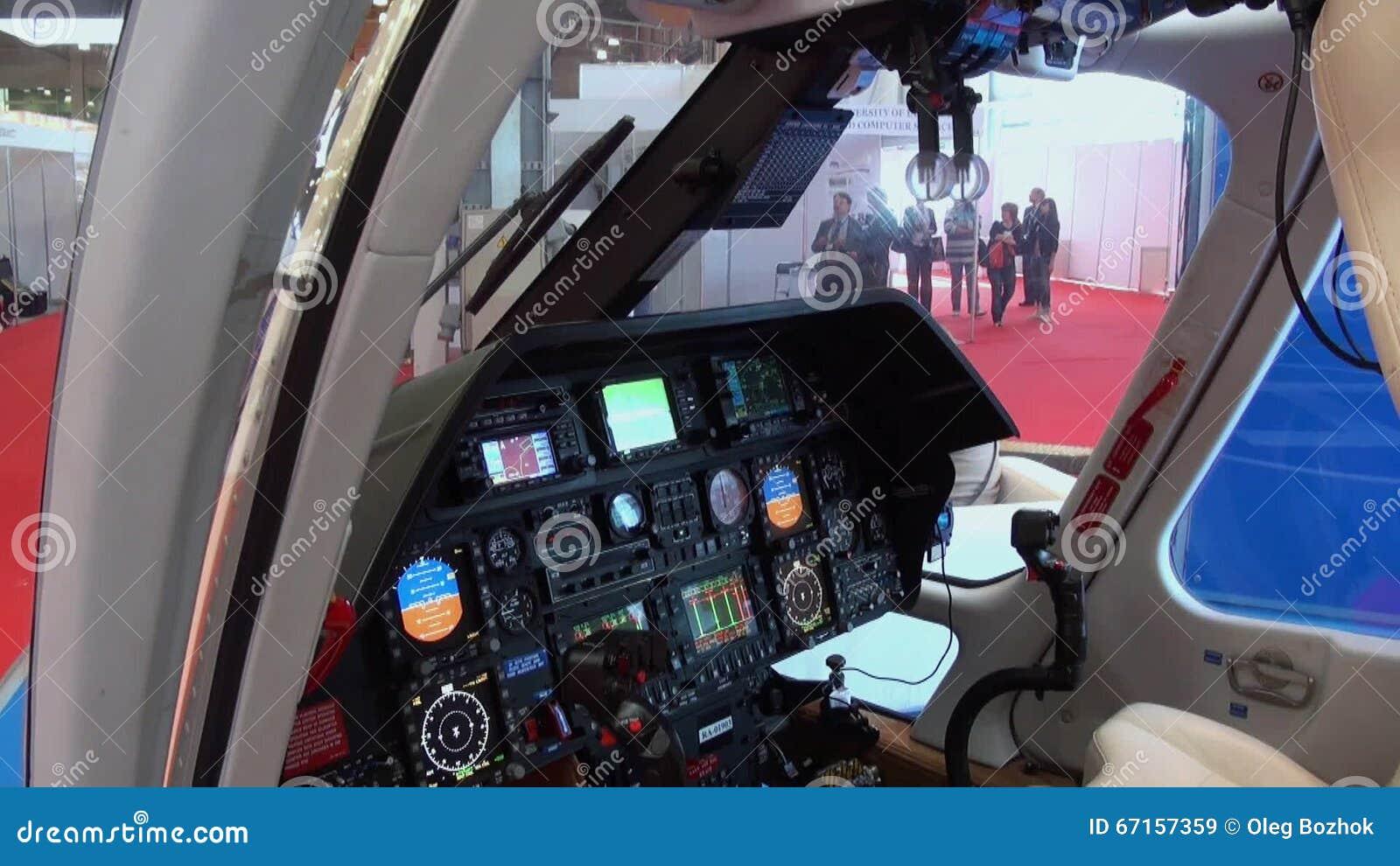 Elicottero Interno : Vista ed elicottero interno del dirigente vip archivi video