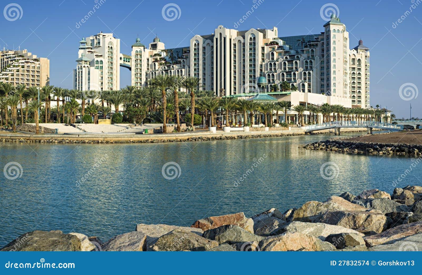 Vista em hotéis de recurso de Eilat