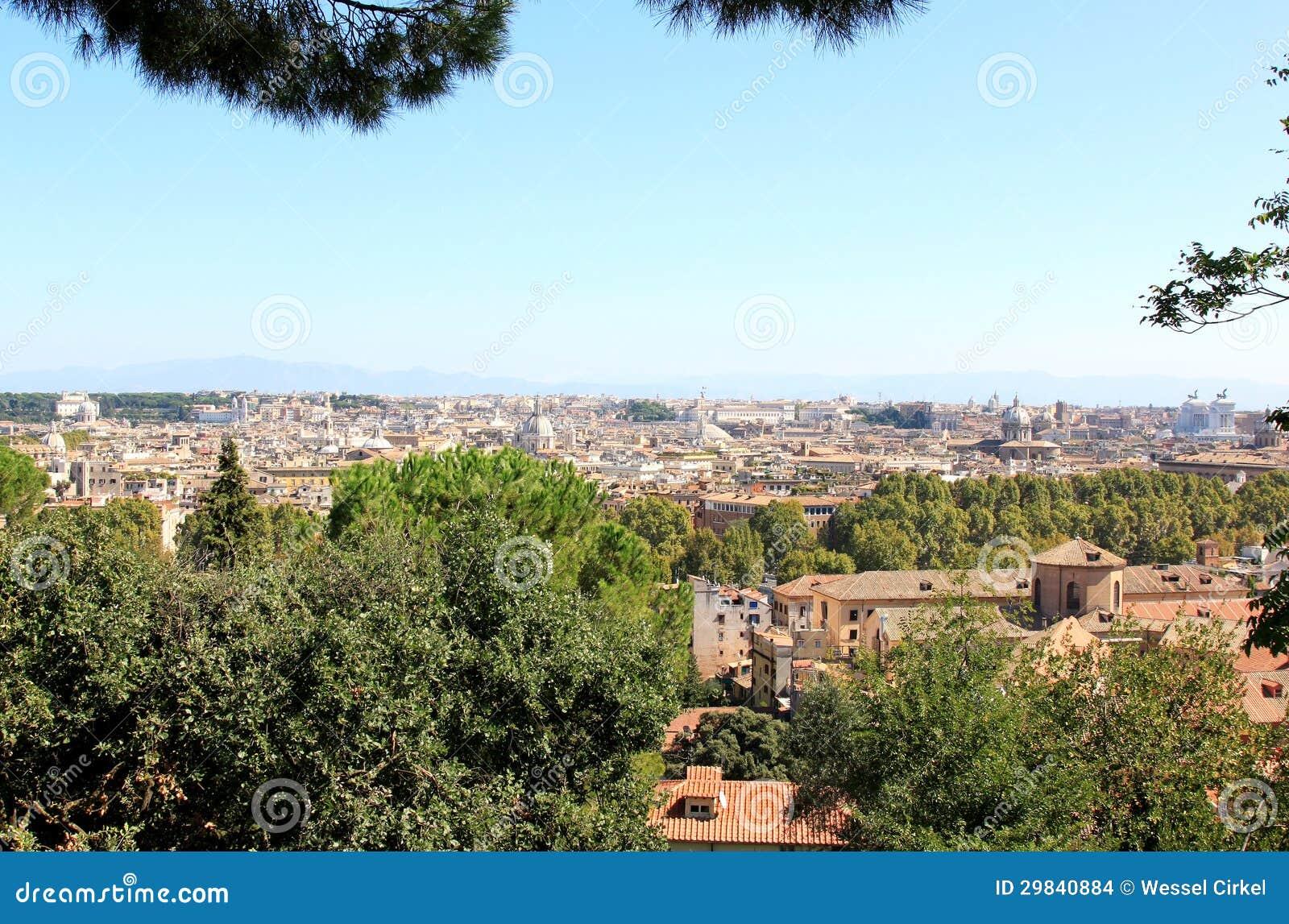 Vista em Roma do Passeggiata di Gianicolo, Lazio