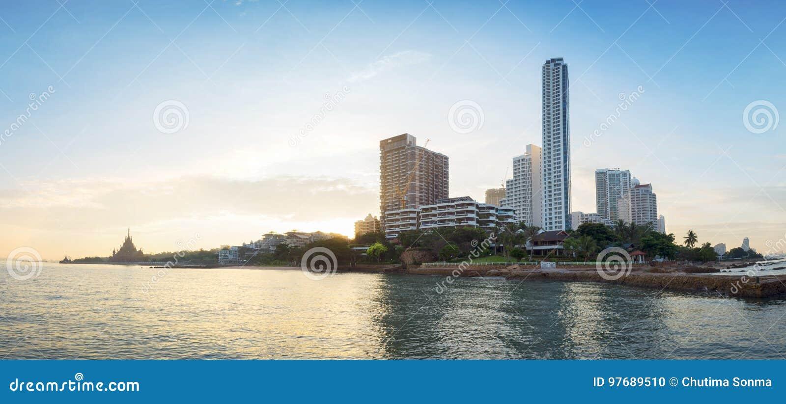 Vista escénica de la ciudad de Pattaya en Tailandia