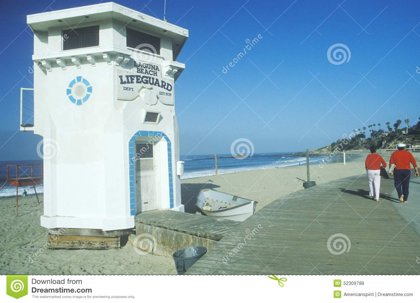 Vista escénica del Laguna Beach, CA