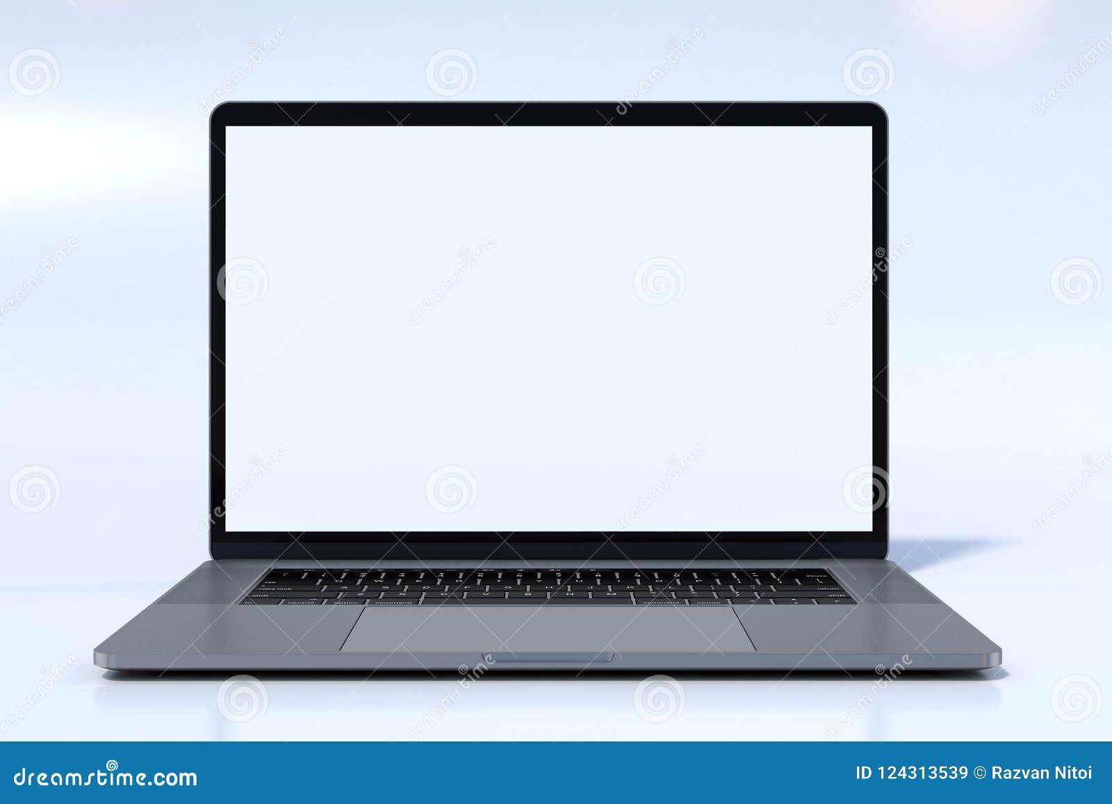 Vista frontale del computer portatile di stile di MacBook Pro