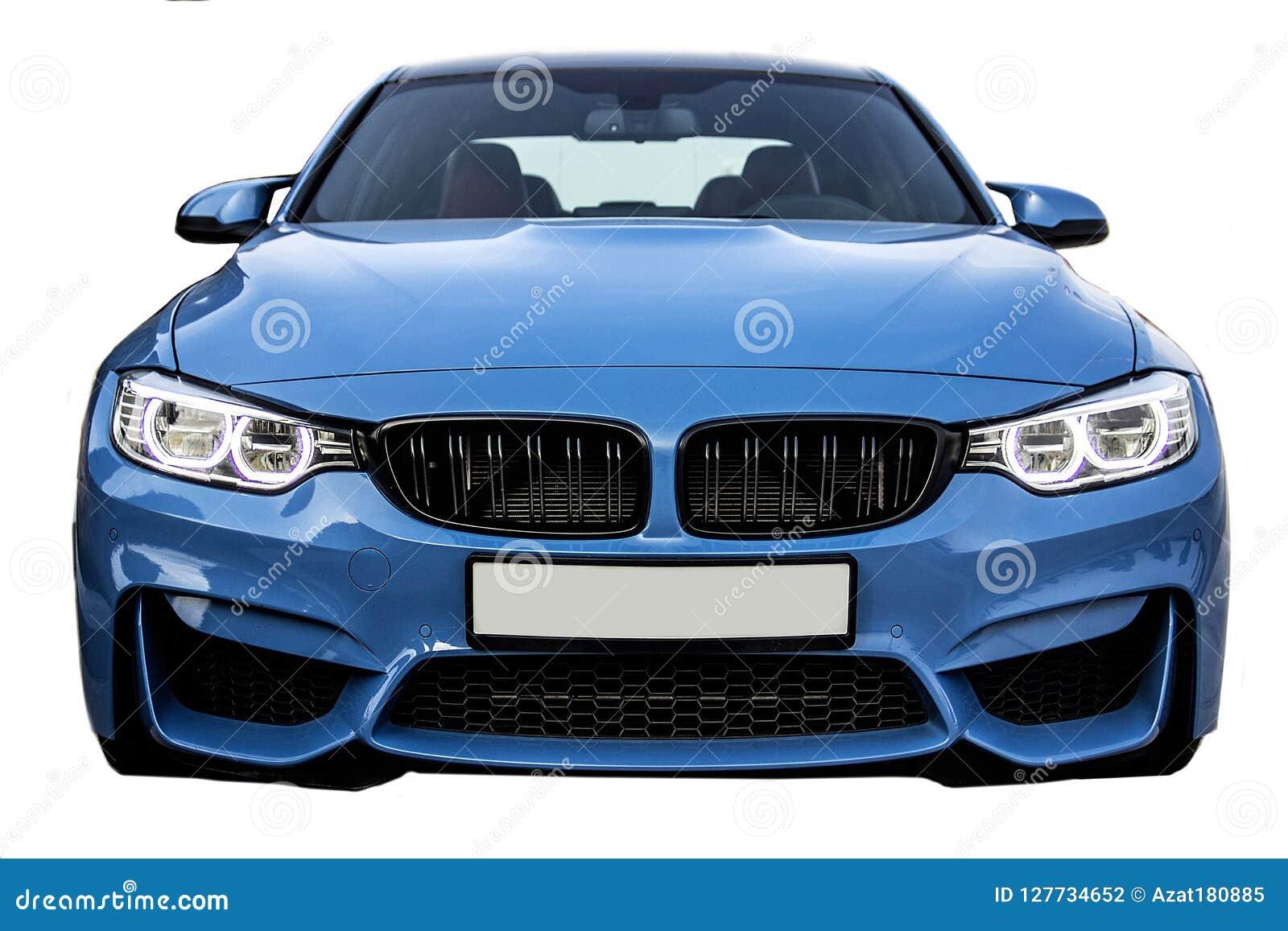 Vista frontale di BMW M3, automobile della berlina di sport di affari