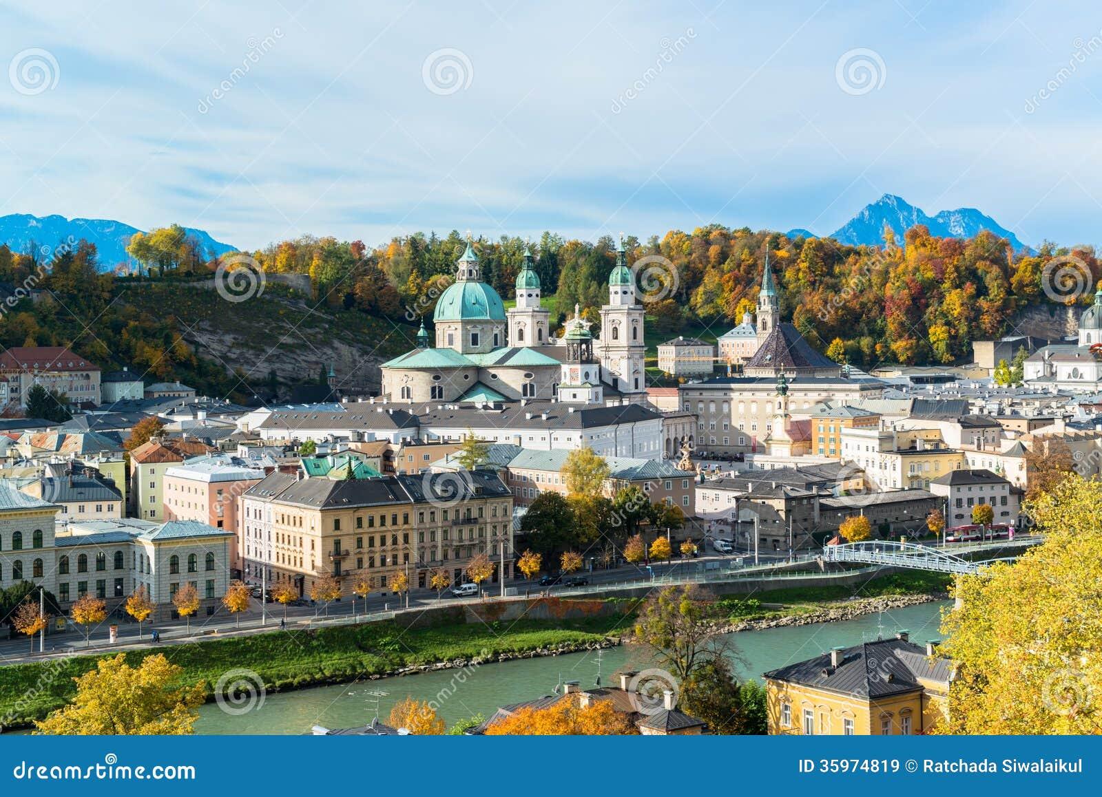 Vista general del centro histórico de Salzburg